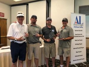 1st Place Men's Team:  Jim Erdman, Tyson Schafer, Zac Cullen, Michael Schafer, Jr.
