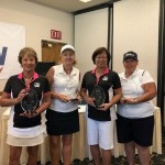 1st Place Ladies Team (Left to Right:  Julie Cherioli, Anne Caulfield, Alice Barcelona, and Carla Kaberniec )