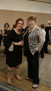 ALAV member Ora Harrison and keynote speaker Kelly Swanson.
