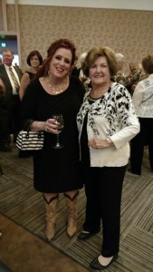 ALAV VP Facilities Sandi Murphy and keynote speaker Kelly Swanson.