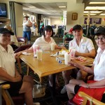 A great team of golfers: Nancy Wood, Judi Webb, Lynne Webb, Linda Schafer.