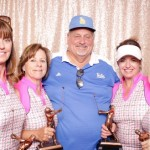 2nd Place Team:  Don Rhodes, Mark Reader, Spencer Torgan and Mark Winter. Pictured with the ladies: Don. His teammates missed the trophy presentation.