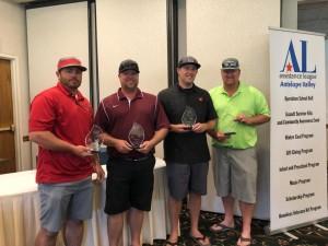 3rd Place Men's Team:   Zack Zamrzla, Shaun Kipp, Ryan Augustine, John Rockey, Jr.