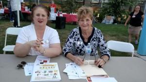 ALAV's Fay Harrison-Bergier and Sharon Kindig.