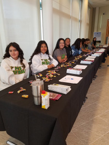 These are the volunteers from the Palmdale High School Girls Softball Team.They were wonderful! They helped us put the lunch area together and did all of the registration.
